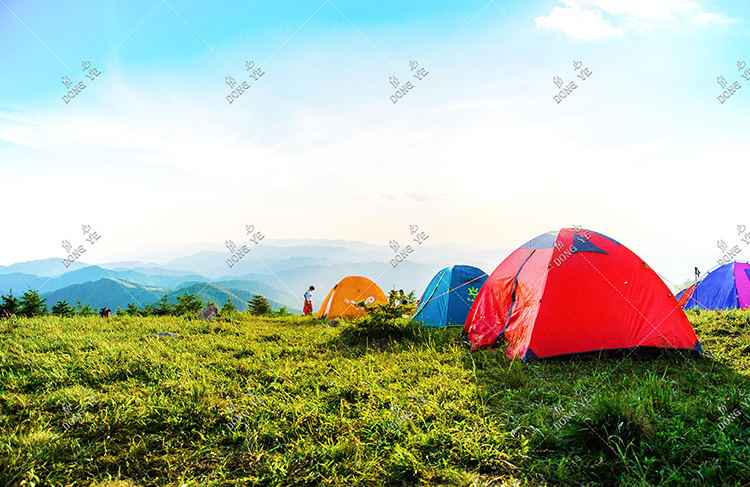 photo-of-pitched-dome-tents-overlooking-mountain-ranges-1687